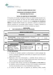 HOSPITAL ALEMÃO OSWALDO CRUZ PROGRAMAS DE ... - Cremers