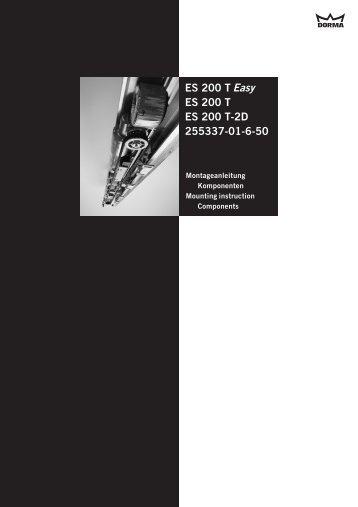 Easy ES 200 T ES 200 T ES 200 T-2D 255337-01-6-50