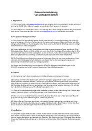 Datenschutzerklärung von unitedprint Gmbh