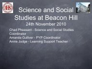 Science & Social Studies Info - Beacon Hill School