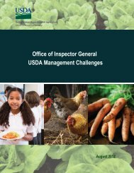 Letter Report Template - US Department of Agriculture