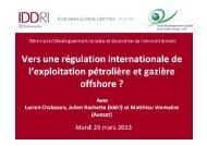 2. Prévention et lutte contre la pollution Méditerranée - Iddri