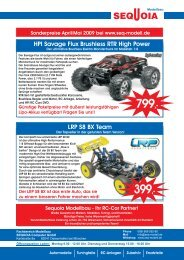 HPI Savage Flux Brushless RTR High Power LRP S8 BX Team