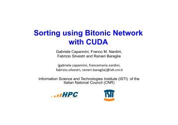 Sorting using bitonic network with CUDA - ComplexHPC.org