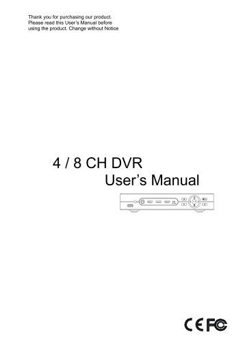 Ge storesafe dvr 4 Channel Manual