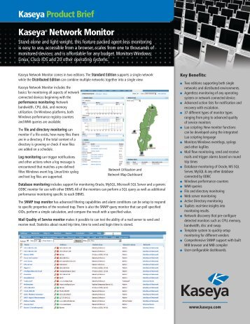 Download the Product Brief - Kaseya