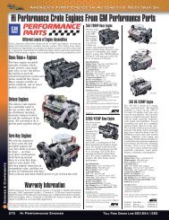 Hi Performance Crate Engines From GM