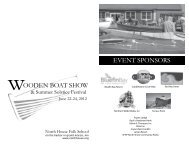 oodeN boat SHow eveNt SpoNSorS - North House Folk School