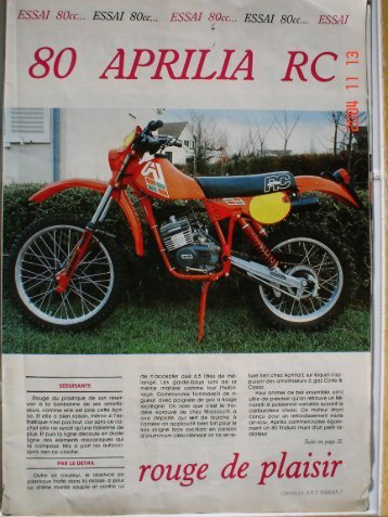 80 RC 1981 - Vintage Aprilia