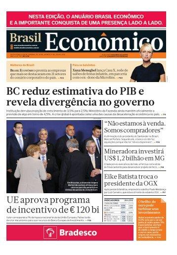 BC reduz estimativa do PIB e revela divergência ... - Brasil Econômico