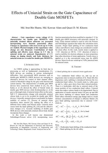 Effects of Uniaxial Strain on the Gate Capacitance ... - ResearchGate