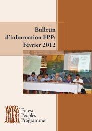 Bulletin d'information FPP: Février 2012 - Forest Peoples Programme