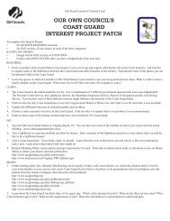 our own council's coast guard interest project patch - Girl Scouts of ...