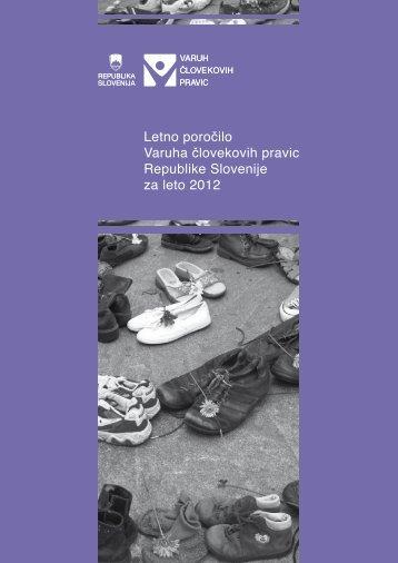 letno poročilo za leto 2012 - Varuh človekovih pravic