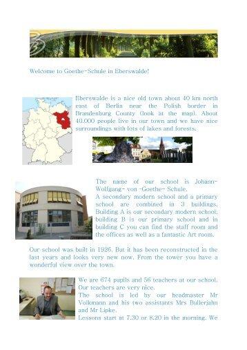 Welcome to Goethe - Goethe Schule Eberswalde