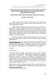 Müzik Eğitimi Bölümü Öğretim Elemanlarının Mesleki Sorunlarının ...