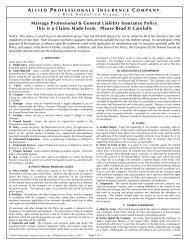 Supplemental General Liability Insurance - Florida State Massage ...