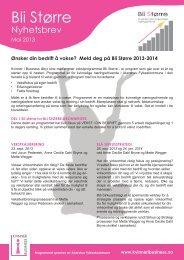 Her finner du informasjon om Bli Større programmet 2013-2014.