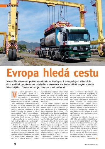 Doprava 2/2008: Evropa hledá cestu; BOHEMIAKOMBI Express ...