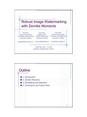 ieee papers on digital image watermarking This paper aims at digital watermark which is a new popular research topic recently, presents some methods to embed digital watermark based on modifying frequency coefficients in discrete wavelet transform (dwt) domain first, the present progress of digital watermark is briefly introduced after that,.