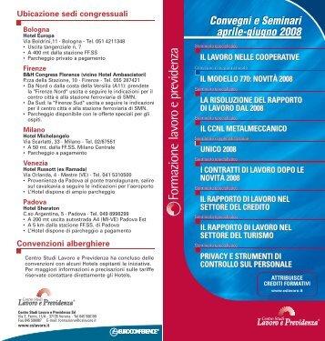 Milano - Centro Studi Lavoro e Previdenza