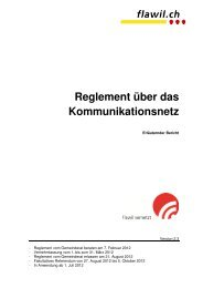 Reglement über das Kommunikationsnetz - Flawil