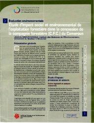 Etude d'impact social et environnemental de l'exploitation forestière ...