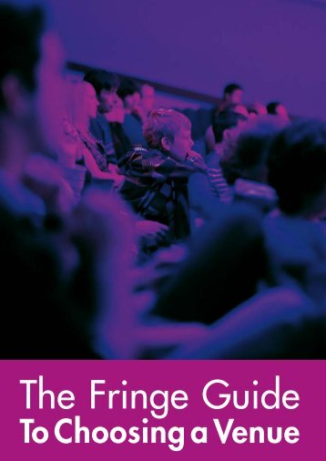 The Fringe Guide to Choosing a Venue - Edinburgh Festival Fringe