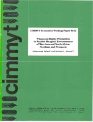 CIMMYT Economics Working Paper 91/02 Wheat and Barley ...