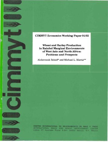 CIMMYT Economics Working Paper 91/02 Wheat and Barley ...