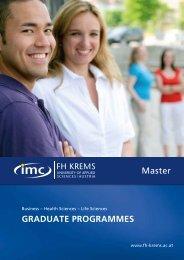 Broschüre - Master - IMC Fachhochschule Krems GmbH