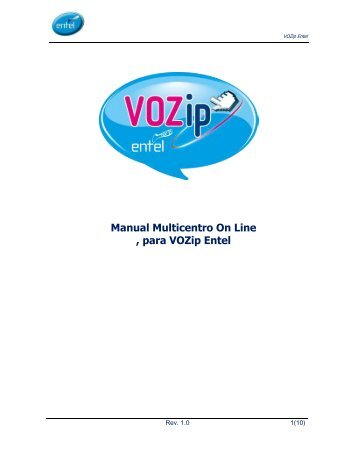 Manual Multicentro On Line , para VOZip Entel