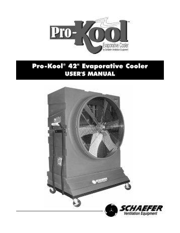Pro-Kool 42 Evaporative Cooler - Schaefer Ventilation Equipment