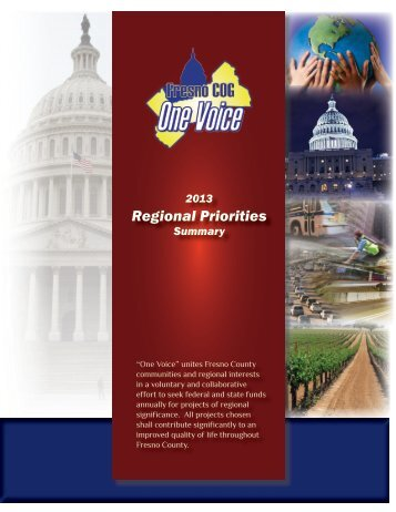 One Voice D.C. Regional Priorities Brochure - Council of Fresno ...
