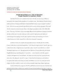 Temple Emanuel in Lakeland, Florida - Jewish Historical Society of ...