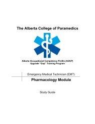 Pharmacology - Alberta College of Paramedics