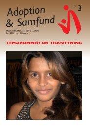 Juni 2007 - Adoption og Samfund