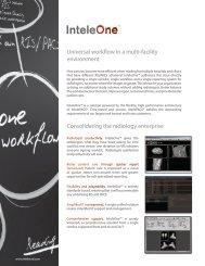 InteleOne Product Sheet - Intelerad