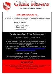 Club News - Edition 13 Summer 2012-2013 - Preston Athletic Club Inc