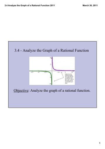 3.4 Analyze the Graph of a Rational Function 2011.pdf