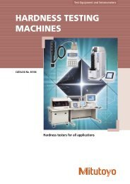HARDNESS TESTING MACHINES - Mitutoyo Scandinavia AB