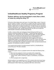 UnitedHealthcare Healthy Pregnancy Program Preterm delivery can ...
