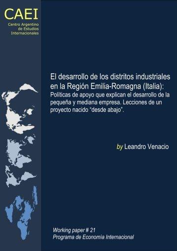 El desarrollo de los distritos industriales en la Región Emilia ... - CAEI