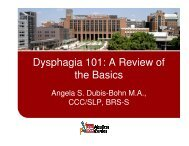 Dysphagia 101 - Ohio Speech-Language-Hearing Association