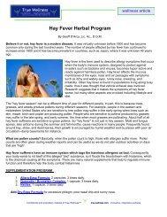 Hay Fever Herbal Program - True-Wellness