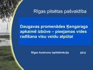 Daugavas promenādes Ķengaraga apkaimē izbūve – pieejamas ...