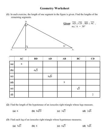 Worksheet Geometric Mean Worksheet geometric mean worksheet pdf worked out problems geometry