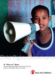 """Child Rights Governance, A """"How to"""" Note - Save the Children"""