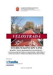 VELOSTRADA - Strategia Transportowa Warszawy - Warszawa