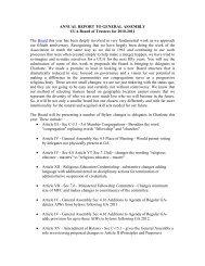 Board of Trustees - Unitarian Universalist Association